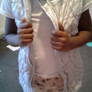 Children's Place Jackets & Coats - Sassy Silver Quilted Vest